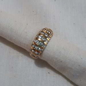 Gold over silver dome ring